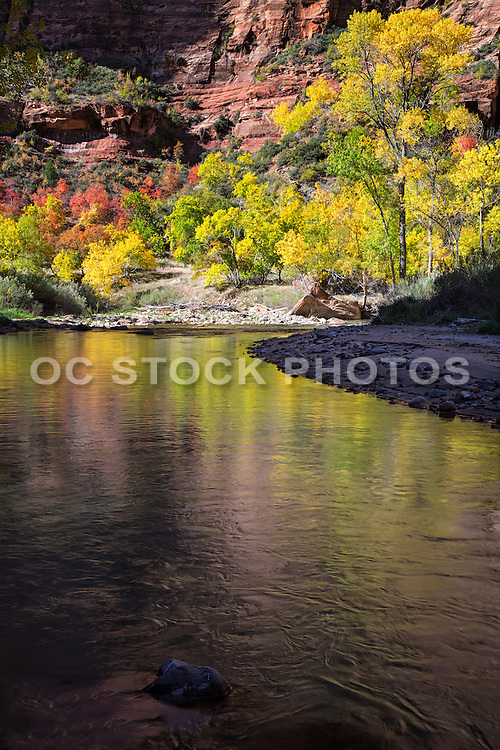 Scenic Photo of Zion Canyon National Park in Utah