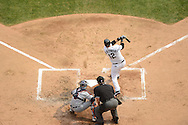 CHICAGO - SEPTEMBER 17:  A.J. PIerzynski #12 of the Chicago White Sox bats against the Detroit Tigers on September 17, 2012 at U.S. Cellular Field in Chicago, Illinois.  The White Sox defeated the Tigers 5-4.  ((Photo by Ron Vesely)  Subject:  A.J. Pierzynski