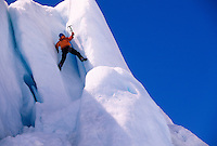Ice climbing with H2O Heliguides at Worthington Glacier, near Valdez, Alaska