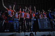 "Fans cheer at the C.M. ""Tad"" Smith Coliseum in Oxford, Miss. on Tuesday, February 1, 2011. Ole Miss won 71-69 over Kentucky."