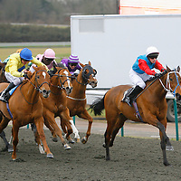 Indian Violet and Luke Rowe winning the 3.30 race