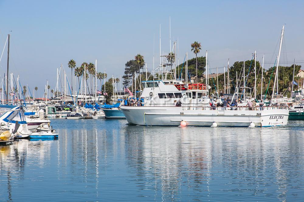 Electra Fishing Boat Leaving the Oceanside Harbor
