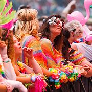 NLD/Amsterdam/20150530 - Toppers concert 2015 Crazy Summer edition, verkleed publiek