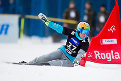 Tim Mastnak (SLO) during Quarter-final Run of Man's Parallel Giant Slalom at FIS Snowboard World Cup Rogla 2016, on January 23, 2016 in Course Jasa, Rogla, Slovenia. Photo by Urban Urbanc / Sportida