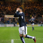 Dundee&rsquo;s Kane Hemmings celebrates his opener  - Dundee v Falkirk, William Hill Scottish Cup Fourth Round at Dens Park <br /> <br />  - &copy; David Young - www.davidyoungphoto.co.uk - email: davidyoungphoto@gmail.com