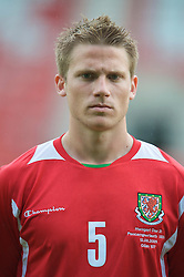 Wrexham, Wales - Wednesday, August 12th, 2009: Wales' Christian Ribeiro before the UEFA Under 21 Championship Qualifying Group 3 match at the Racecourse Ground. (Photo by Chris Brunskill/Propaganda)