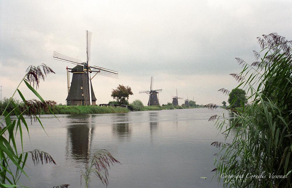 Windmills at Kinderdijk in The Netherlands