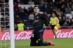 January 24, 2019 - Madrid, Spain - Real Madrid's goalkeeper Thibaut Courtois react during Copa del Rey match between Real Madrid and Girona FC at Santiago Bernabeu Stadium. (Credit Image: © Legan P. Mace/SOPA Images via ZUMA Wire)