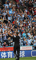 Football - 2017 / 2018 Premier League - Huddersfield Town vs. Newcastle United<br /> <br /> David Wagner manager of Huddersfield Town waves to the fans at The John Smith Stadium.<br /> <br /> COLORSPORT/LYNNE CAMERON
