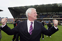Photo: Rich Eaton.<br /> <br /> Oxford United v Leyton Orient. Coca Cola League 2. 06/05/2006.<br /> <br /> Orient chairman Barry Hearn celebrates