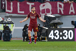 January 19, 2019 - Rome, Italy - Kostas Manolas during the Italian Serie A football match between A.S. Roma and F.C. Torino at the Olympic Stadium in Rome, on january 19, 2019. (Credit Image: © Silvia Lore/NurPhoto via ZUMA Press)