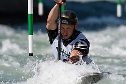 Gregorz HEDWIG of Poland during the Canoe Single (C1) Men SemiFinal race of 2019 ICF Canoe Slalom World Cup 4, on June 28, 2019 in Tacen, Ljubljana, Slovenia. Photo by Sasa Pahic Szabo / Sportida