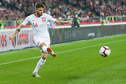 October 11, 2018 - Chorzow, Poland - Mateusz Klich (POL) during the UEFA Nations league match between Poland v Portugal at the Slaski Stadium on October 11, 2018 in Chorzow  (Credit Image: © Foto Olimpik/NurPhoto via ZUMA Press)