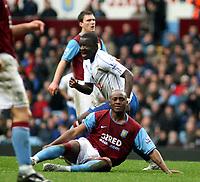 Photo: Mark Stephenson/Sportsbeat Images.<br /> Aston Villa v Portsmouth. The FA Barclays Premiership. 08/12/2007.Portsmouth's Sulley Ali Muntari celebrates his 2ed goal while a dejected Nigal Reo-Coker looks on