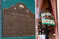 The National Hotel - California Registered Historical Landmark #899, Nevada City, California