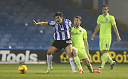 Sheffield Wednesday striker Fernando Forestieri (45) and Brighton central midfielder, Dale Stephens (6) during the Sky Bet Championship match between Sheffield Wednesday and Brighton and Hove Albion at Hillsborough, Sheffield, England on 3 November 2015.