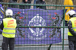 Viole, ultras of Maribor during football match between ND Mura 05 and NK Maribor in 21th Round of Slovenian First League PrvaLiga NZS 2012/13 on December 2, 2012 in Murska Sobota, Slovenia. (Photo By Ales Cipot / Sportida).