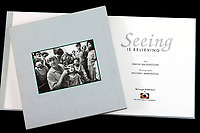 """The book """"Seeing is Believing"""" published in 1994 featuring the photograph of Fred Hollows based on his on the legacy and work."""