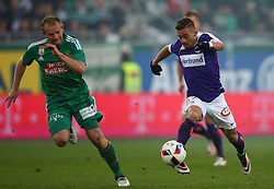 23.10.2016, Allianz Stadion, Wien, AUT, 1. FBL, SK Rapid Wien vs FK Austria Wien, 12 Runde, im Bild Mario Sonnleitner (SK Rapid Wien) und Venuto (FK Austria Wien) // during Austrian Football Bundesliga Match, 12th Round, between SK Rapid Vienna and FK Austria Wien at the Allianz Stadion, Vienna, Austria on 2016/10/23. EXPA Pictures © 2016, PhotoCredit: EXPA/ Thomas Haumer