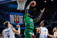 Real Madrid's player Luka Doncic and Gustavo Ayon and Panathinaikos's player James Gist during match of Turkish Airlines Euroleague at Barclaycard Center in Madrid. November 16, Spain. 2016. (ALTERPHOTOS/BorjaB.Hojas)