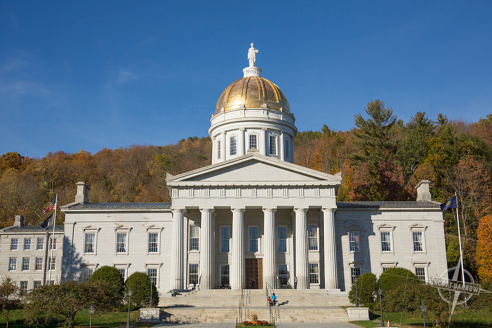 The Vermont State Capitol Building in Montpelier, Vermont.