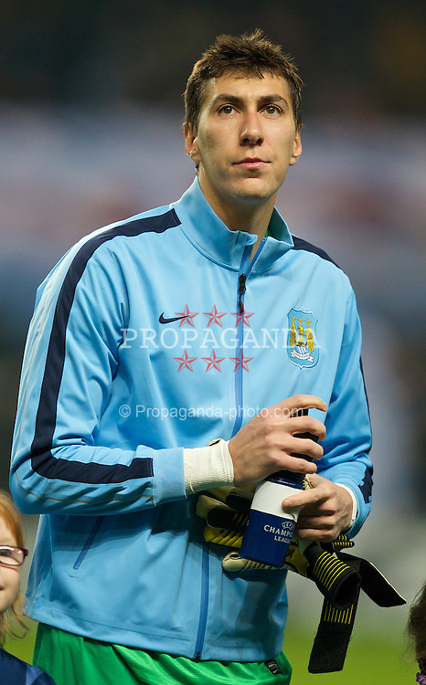 MANCHESTER, ENGLAND - Tuesday, November 5, 2013: Manchester City's goalkeeper Costel Pantilimon before the UEFA Champions League Group D match against CSKA Moscow at the City of Manchester Stadium. (Pic by David Rawcliffe/Propaganda)