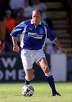 Paul Gascoigne (Everton) Exeter City v Everton, Pre-Season Friendly, 5/08/2000. Credit: Colorsport / Matthew Impey