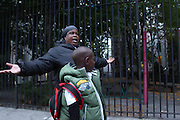 Bronx, NY Oct. 9 2013. Serene Mayes had her grandson, Cashmere Jackson's  first birthday party in the park. She's angry that nobody's doing anything to fix it. 10092013. Photo by Kayle Hope Schnell/NYCity Photo Wire