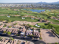 TPC Scottsdale golf course luxury real estate aerial drone photography, Scottsdale, Arizona