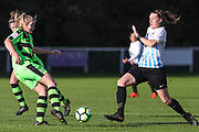 Forest Green Rovers Jessica Phillips(2) during the South West Womens Premier League match between Forest Greeen Rovers Ladies and Marine Academy Plymouth LFC at Slimbridge FC, United Kingdom on 5 November 2017. Photo by Shane Healey.