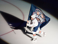 October 9, 2010: The Oklahoma City Barons of the AHL play their inaugural game at the Cox Convention Center against the Houston Aeros.