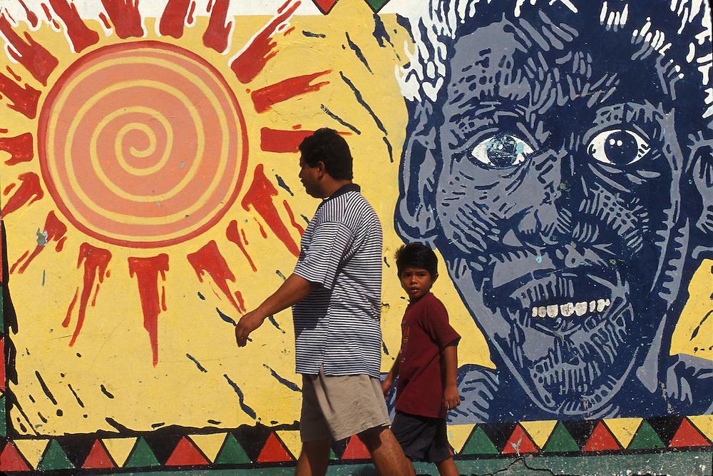 Belize / Belize City / Pop art at a Belize City street...© JOAN COSTA.