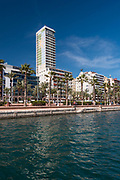 Skyline of the city of Alicante from its port, Alicante, Spain Europe
