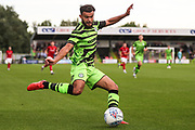 Forest Green Rovers Dominic Bernard(3) crosses the ball during the Pre-Season Friendly match between Forest Green Rovers and Bristol City at the New Lawn, Forest Green, United Kingdom on 24 July 2019.