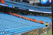 Stewards making last minute checks during the The FA Cup 3rd round match between Manchester City and Rotherham United at the Etihad Stadium, Manchester, England on 6 January 2019.