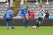 Toyosi Olusanya AFC Wimbledon during the FA Youth Cup match between Newcastle United and AFC Wimbledon at St. James's Park, Newcastle, England on 6 January 2016. Photo by Stuart Butcher.