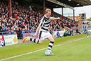 Forest Green Rovers Mark Ellis(5) passes the ball during the Vanarama National League match between York City and Forest Green Rovers at Bootham Crescent, York, England on 29 April 2017. Photo by Shane Healey.