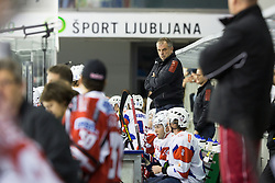 Matjaz Kopitar, head coach of Slovenia, during ice-hockey match between Slovenia and Austria in Slovenia Euro ice hockey challenge, on November 10, 2012 at Hala Tivoli, Ljubljana, Slovenia. (Photo By Matic Klansek Velej / Sportida)