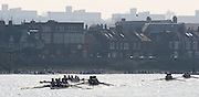 Chiswick; Great Britain; Crews racing to Corney Reach, viewed fron Chiswick Pier, 2009 Head of the River Race, race Mortlake to Putney,  Sat 21.03.2009 Championship Course, Mortlake to Putney, 4.25 miles.  [Mandatory Credit. Peter Spurrier/Intersport Images]