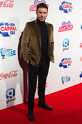 © Licensed to London News Pictures. 03/12/2016. Capital presenter DAVE BERRY attends Capital's Jingle Bell Ball with Coca-Cola at London's O2 Arena London, UK. Photo credit: Ray Tang/LNP