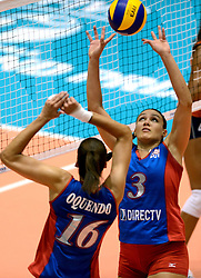 08-08-2014 NED: FIVB Grand Prix Nederland - Puerto Rico, Doetinchem<br /> Alexandra Oquendo, Vilmarie Mojica