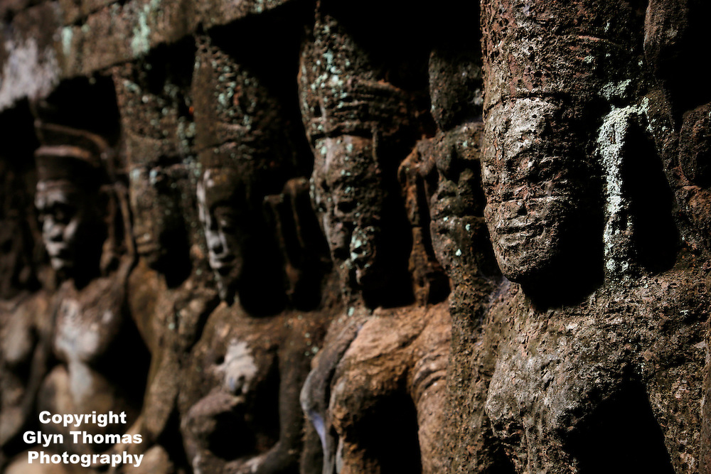 Secret Frieze at the Terrace of the Leper King, Angkor Thom, Cambodia