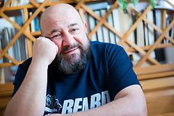 Portrait of Slovenian actor, playwright, director Gregor Cusin, on April 20, 2019 in Koroska Bela, Slovenia. Photo by Peter Podobnik / Sportida