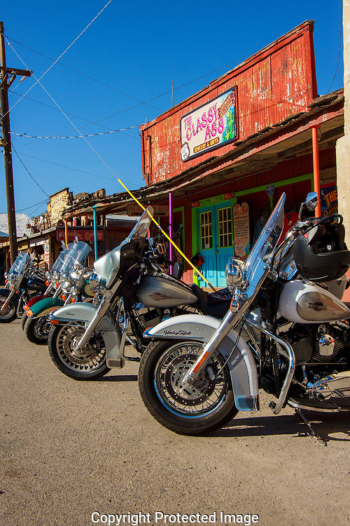 The mining town of Oatman, Arizona is a very popular Route 66 destination.