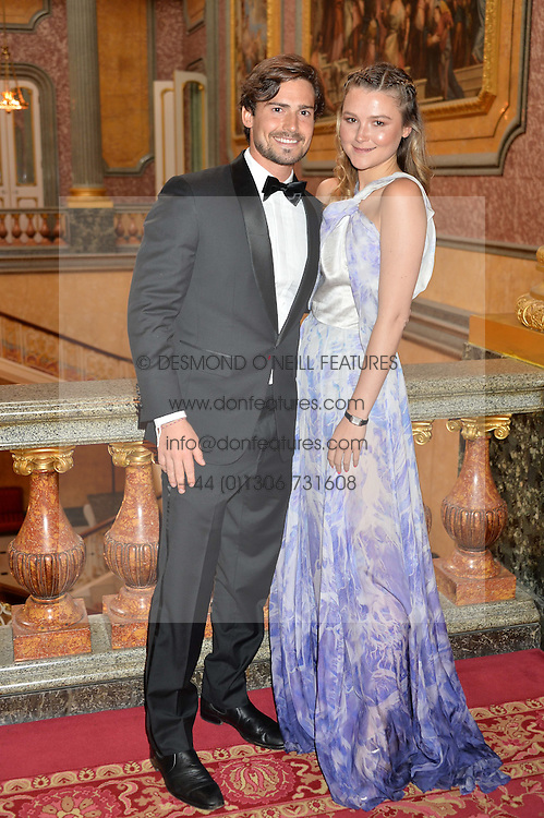 AMBER ATHERTON and CHRIS WHITLOCK at the Dream Ball in aid of The Princes's Trust and Big Chance held at Lancaster House, St.James's, London on 7th July 2016.