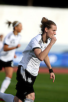 Fifa Womans World Cup Canada 2015 - Preview //<br /> Algarve Cup 2015 Tournament ( Vila Real San Antonio Sport Complex - Portugal ) - <br /> Germany vs Sweden 2-4   -  Simone Laudehr of Germany , celebrates after his goal (2-0)