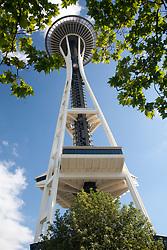United States, Washington, Seattle, Space Needle at Seattle Center