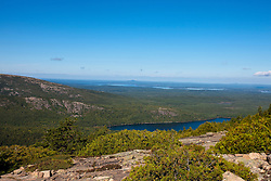 General view from the Ridge Trail on Cadillac Mountain, Acadia National Park, Maine, United States of America