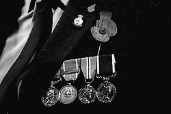 A serviceman's medals underneath a poppy - Mandatory by-line: Robbie Stephenson/JMP - 09/11/2018 - FOOTBALL - Bramall Lane - Sheffield, England - Sheffield United v Sheffield Wednesday - Sky Bet Championship