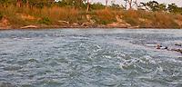 Fast flowing river, Bardiya National Park, Nepal